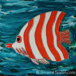 Happy Fish - Red Stripe II - Sold