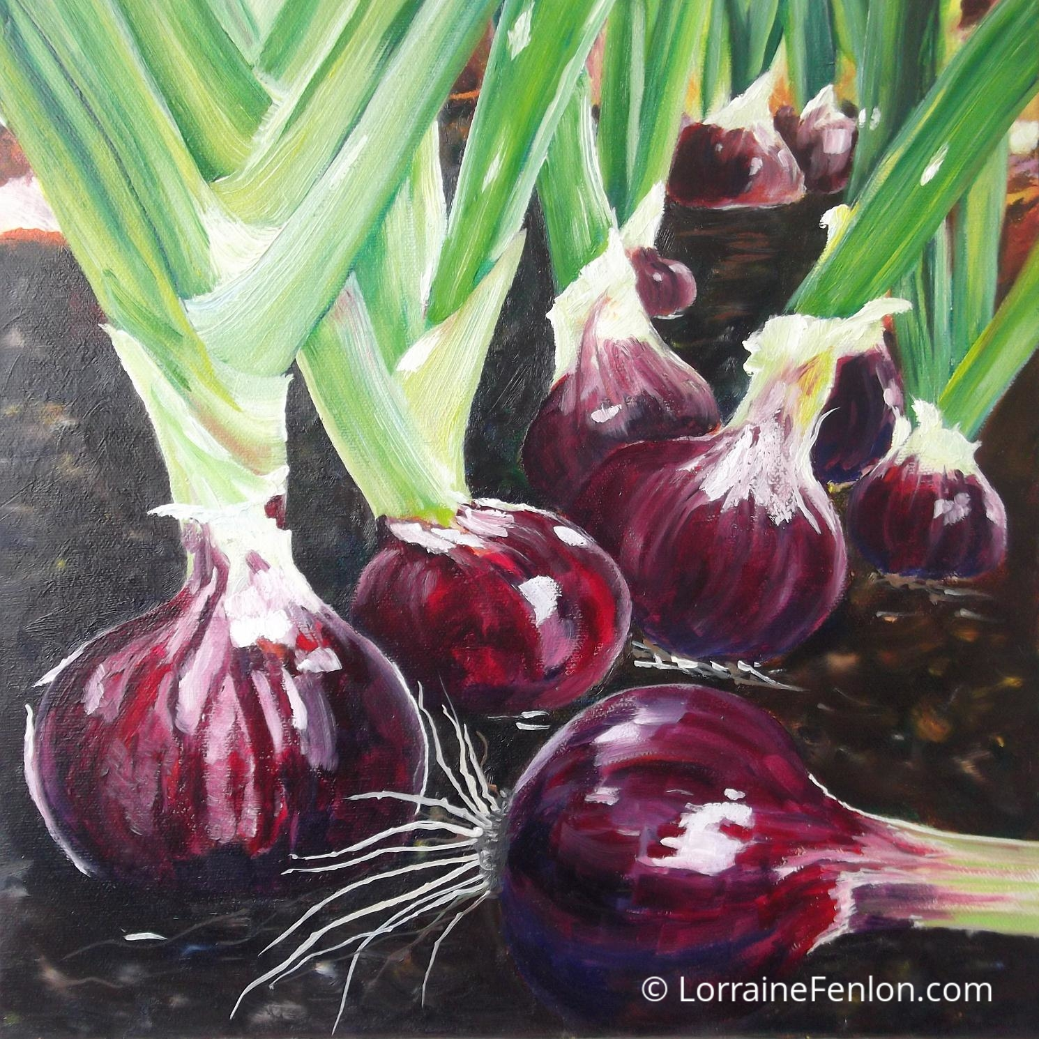 Red Onions €449Framed