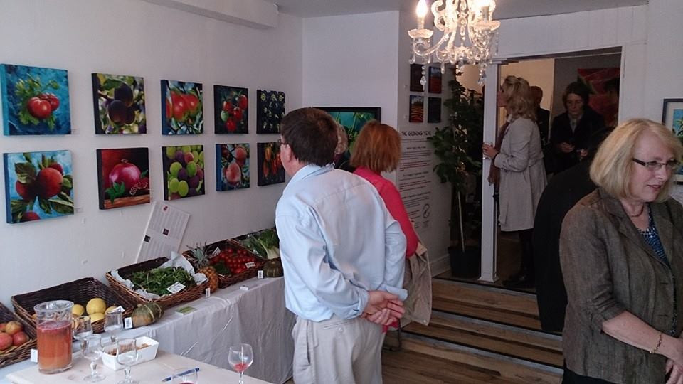 Visitors arrive at my first Solo Exhibition - The Market Gallery, Carlow.