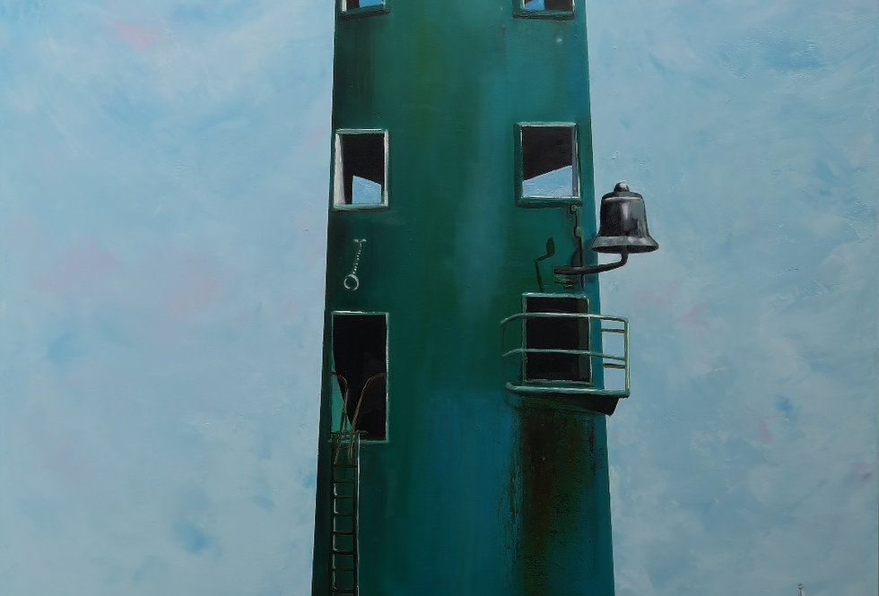 Nort Bull Lighthouse -Mounted Limited Edition Prin