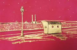 Clontarf Promenade in Pink & Gold