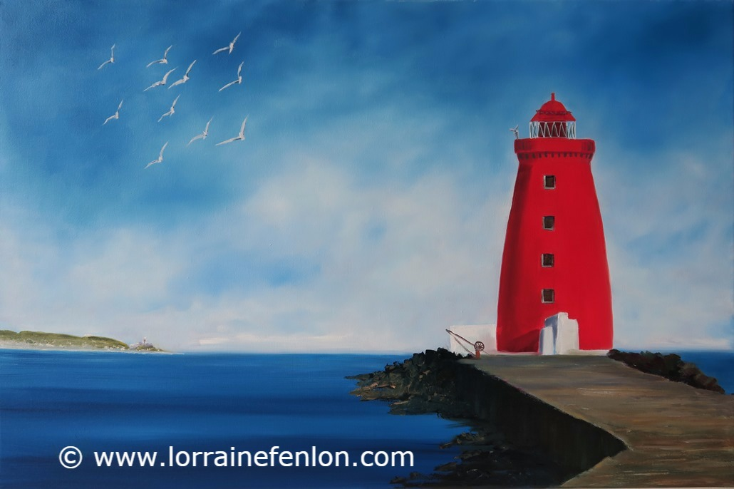 SOLD -Poolbeg Lighthse view to Howth