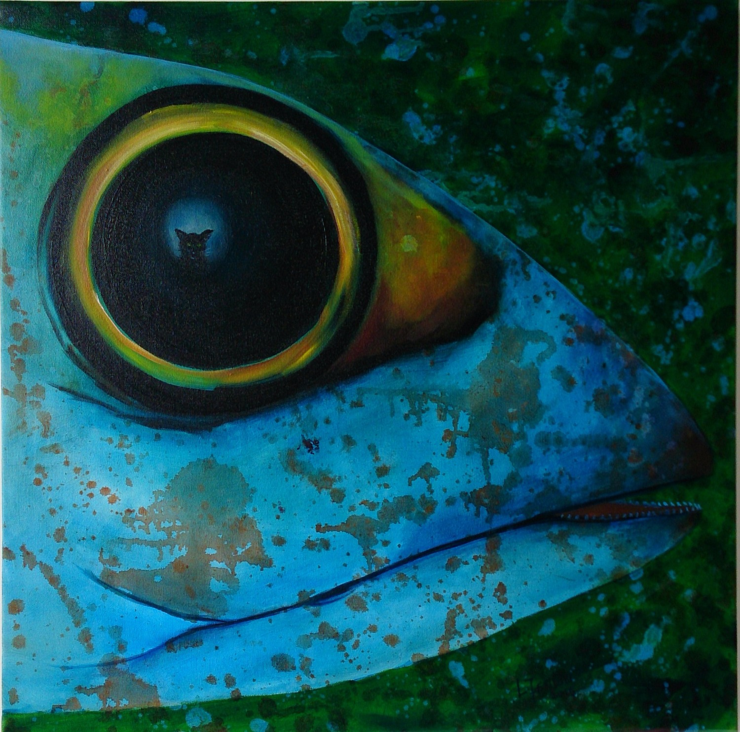 Fate of Mackerel II - Oil on canvas
