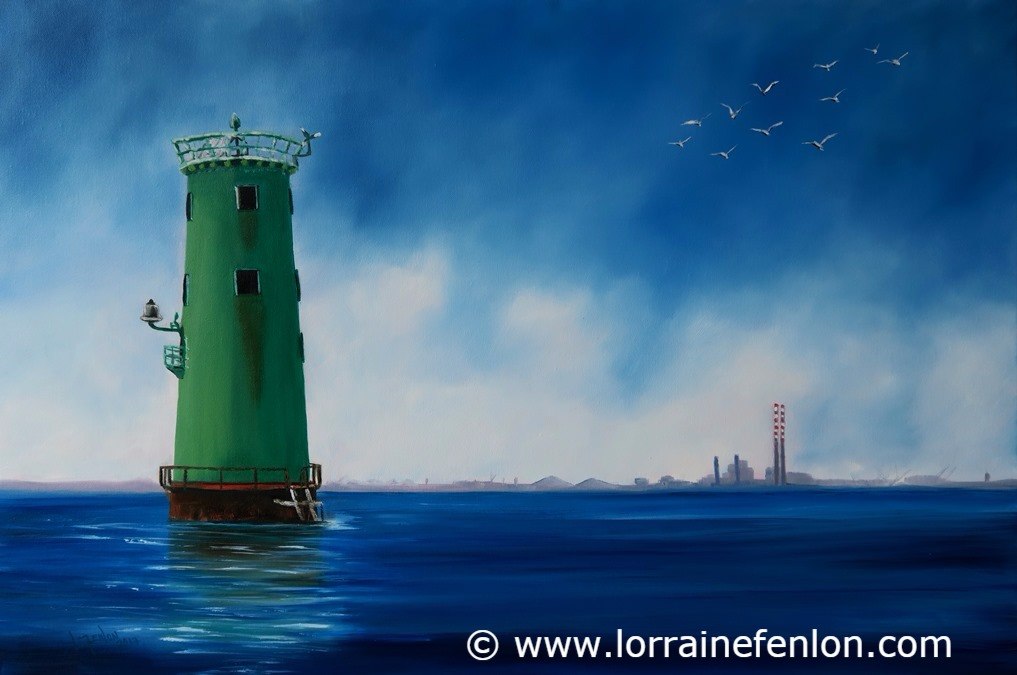 North Bull to Poolbeg -Oil 40 x 60cm