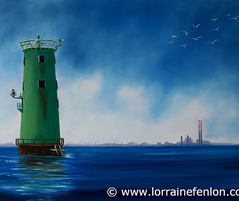 Original - North Bull Lighthouse - View to Poolbeg