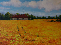 The Old Stables - oil 30 x 40cms