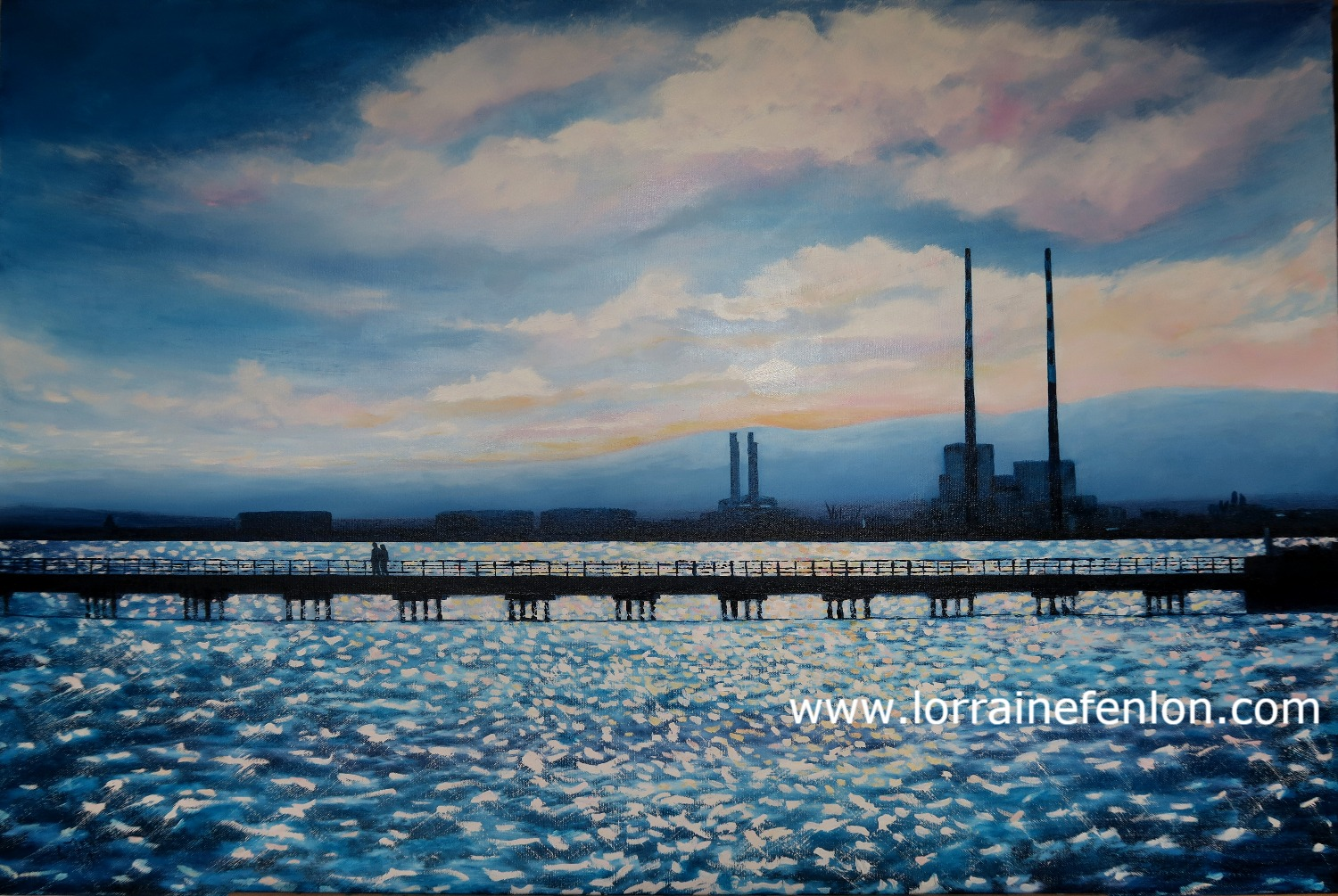 A Sunday Walk -Wooden Bridge 60 x 90cms