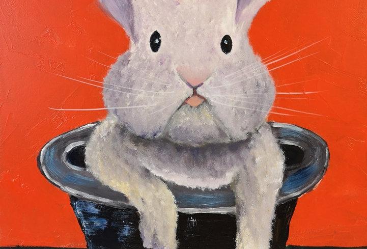 Original - Rabbit in a Hat II