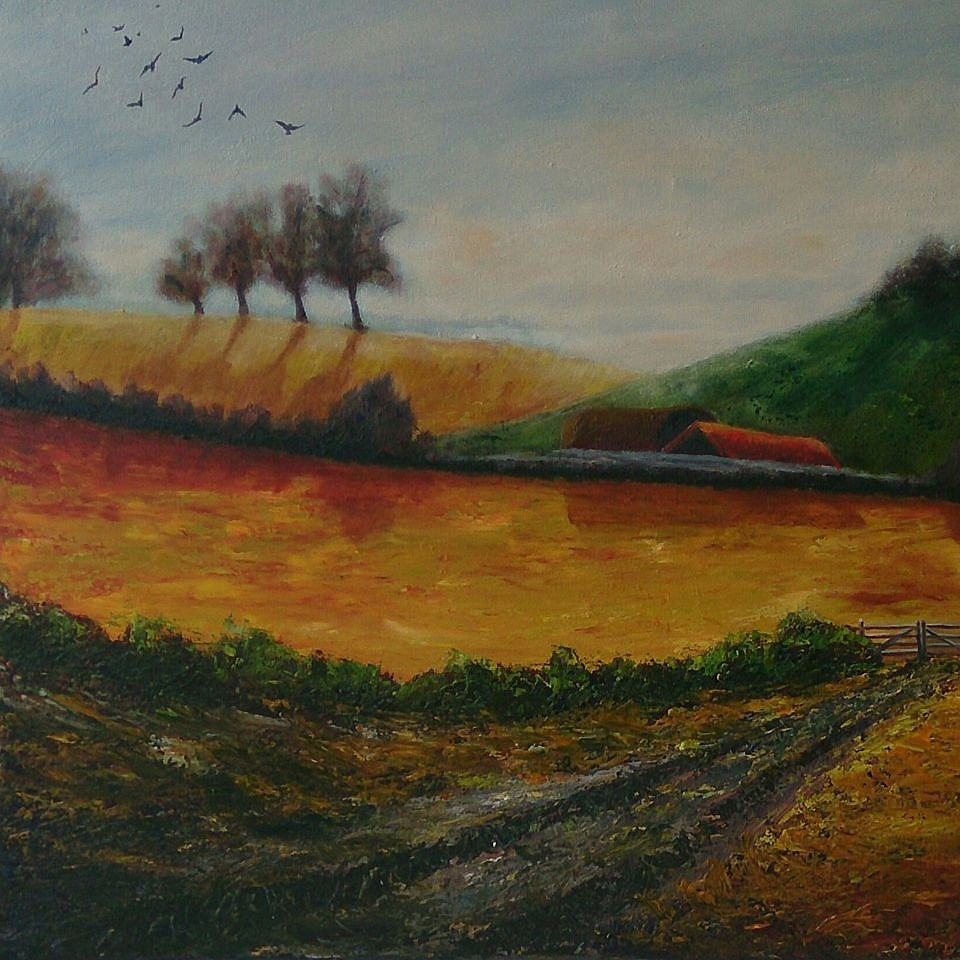 Grandad's Farm Oil - 40 x 50cms