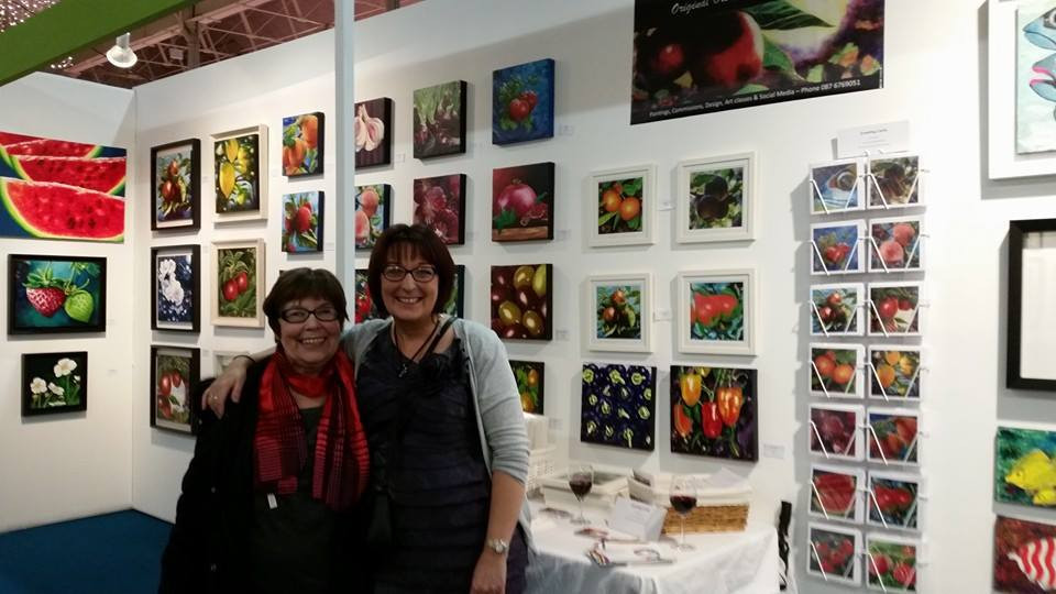 Myself and my lovely Mum at RDS Art Source 2014
