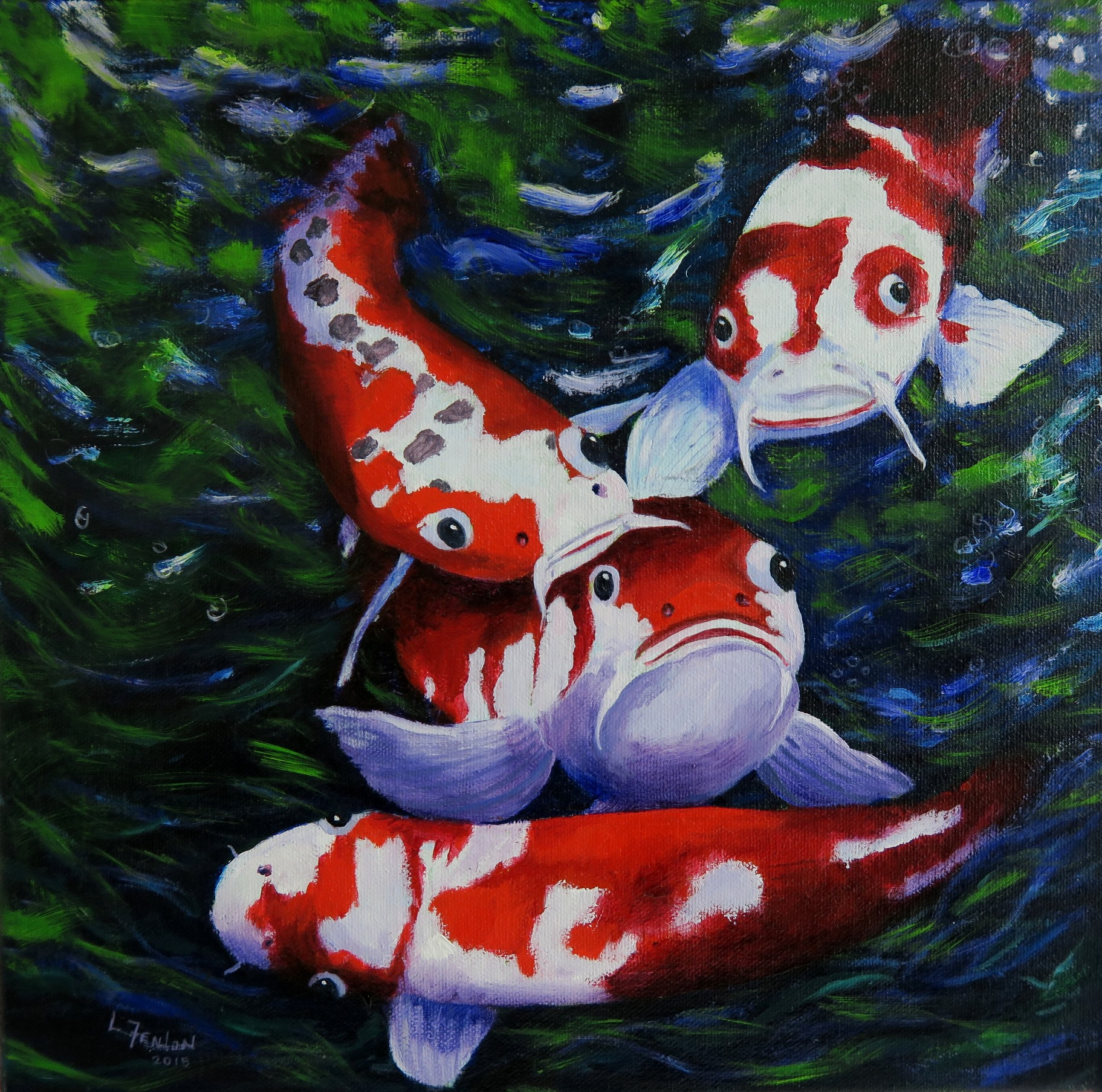 Red Koi - Prints available