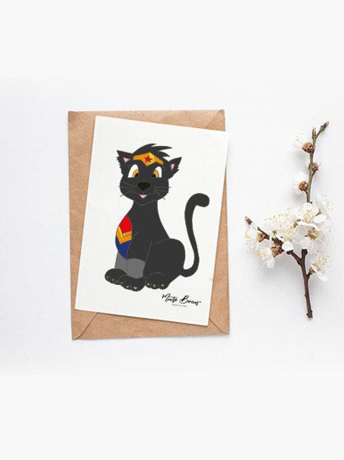 Foto/postal decorativa Wondercat (10 x15 cm)