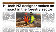 Hi-tech NZ designer makes an impact in the forestry sector