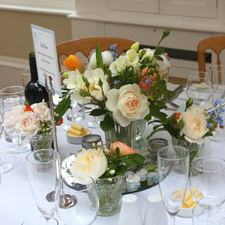 Beautiful Wedding Reception Table Decor with Co-ordinating Event Stationery