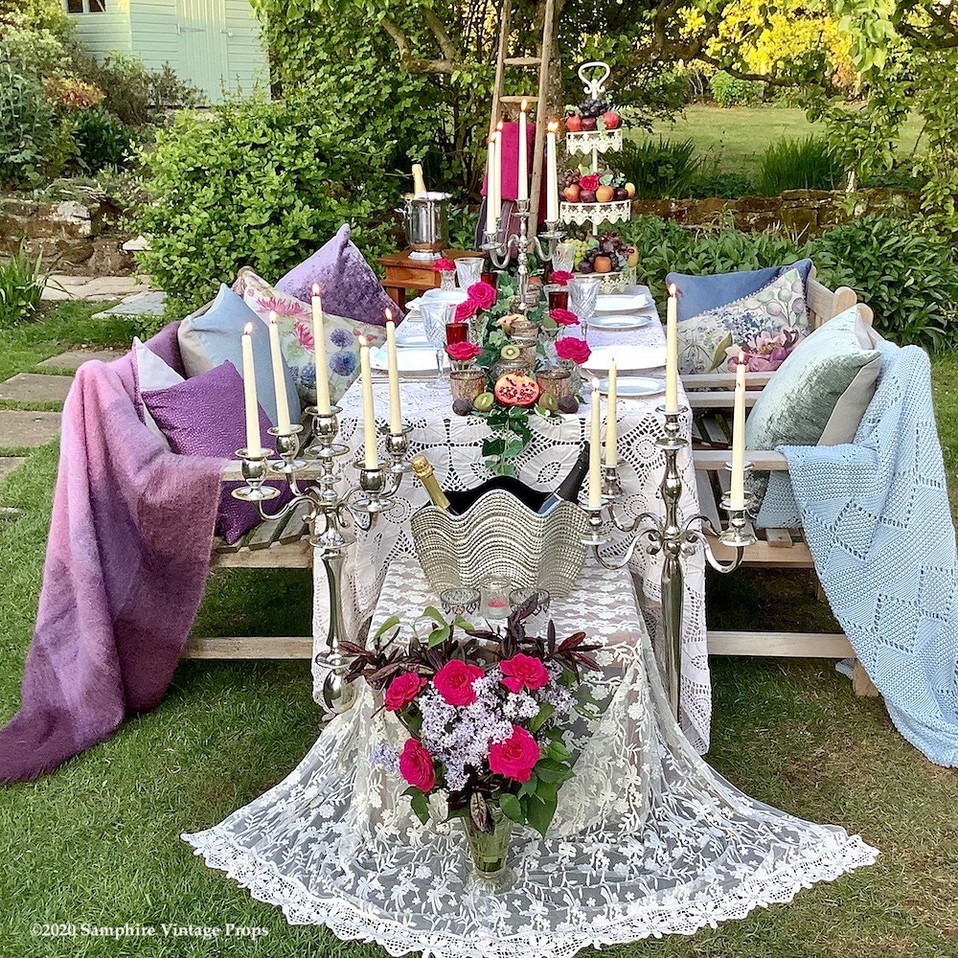 Norfolk Summer Garden Dining in Style with Candelabras and Candlelight