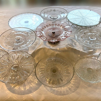 Vintage Glass Cake Stands for Afternoon Tea Parties and Celebrations
