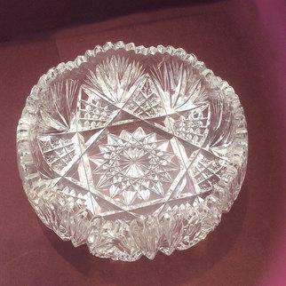 Cut Glass Bon Bon Dish Serving Bowl