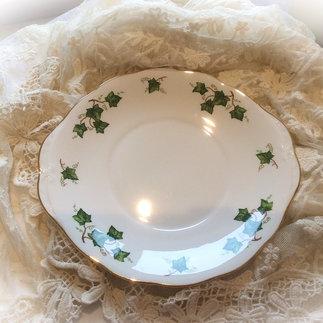 Vintage China Ivy Leaf Cake Plate