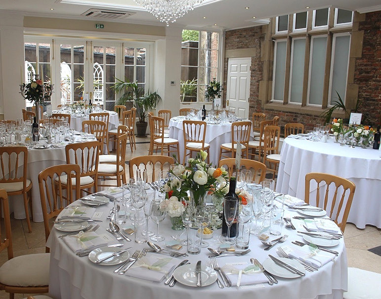 Beautiful Wedding Venue Goldsborough Hall Table Decor Includes Bespoke Handmade Menus and Venue Stationery