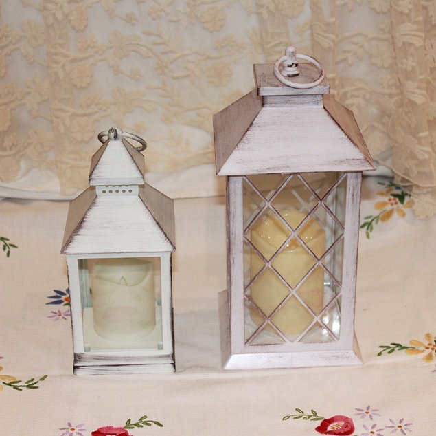 Ivory Battery Candle Lanterns Prop Hire