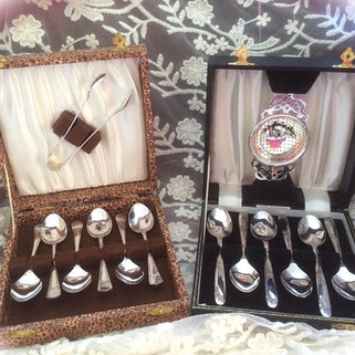 Two boxed cases of Silver Plated teaspoons