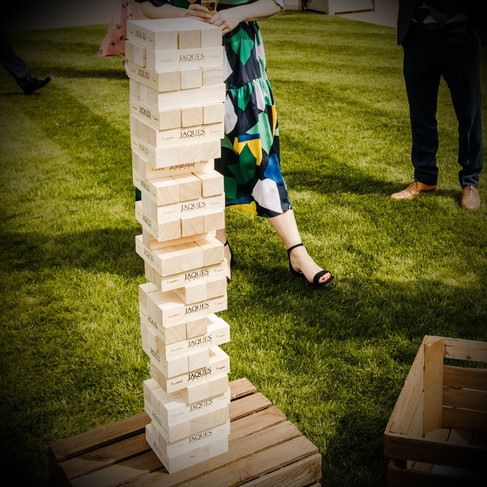 Giant Tumble Tower Garden Game for Hire North Norfolk