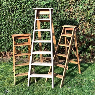 Vintage Wooden Step Ladders Hire for Wedding & Event Venue Styling Norfolk