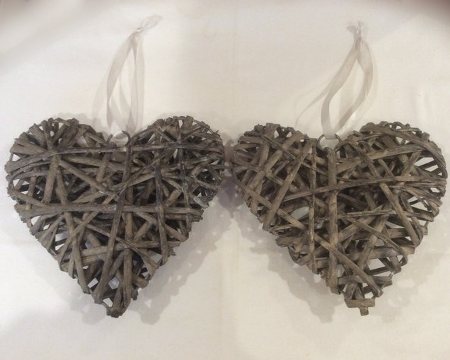 Rustic Hanging Hearts Event Hire