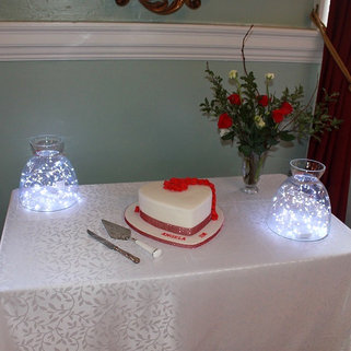 Glass Dome Jars With Battery Fairy Lights Event Decor