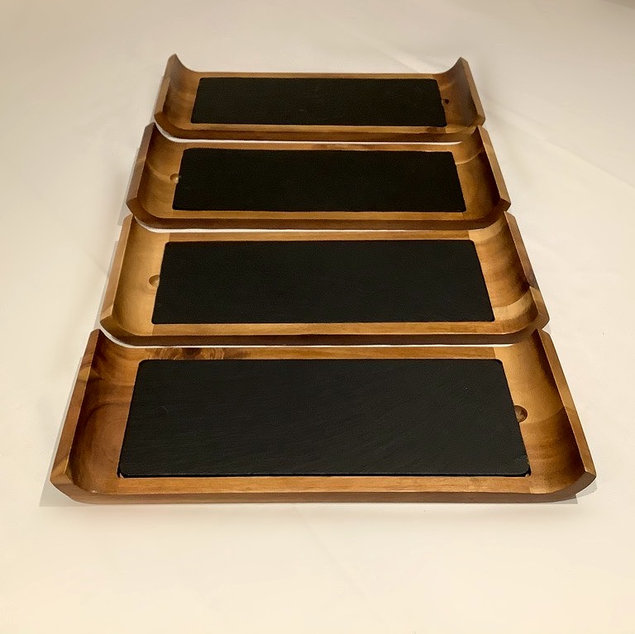 Wood and Slate Serving Platter for Food and Grazing Station Weddings and Events