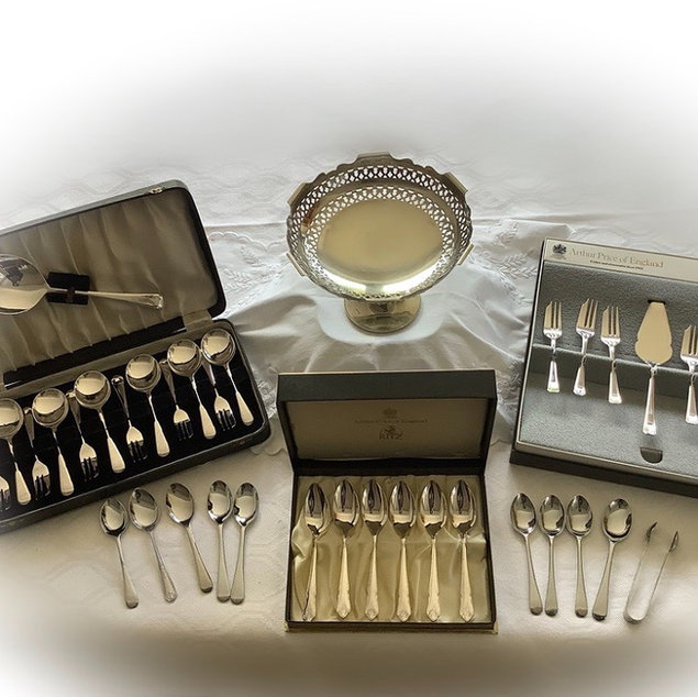 Assorted Silver Plated Cutlery Wedding and Event Hire Norfolk