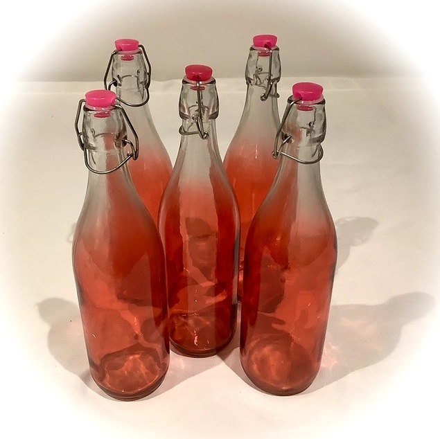 Pink Kilner Style Water Bottles with Tops