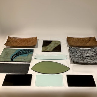 Stylish Glass Serving Platters and Plates for Canapes and Buffet