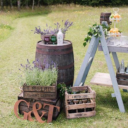 Vintage-Crates-Rustic-Barrels-Lavender-Wedding-Decor-Prop-Hire-and-Styling