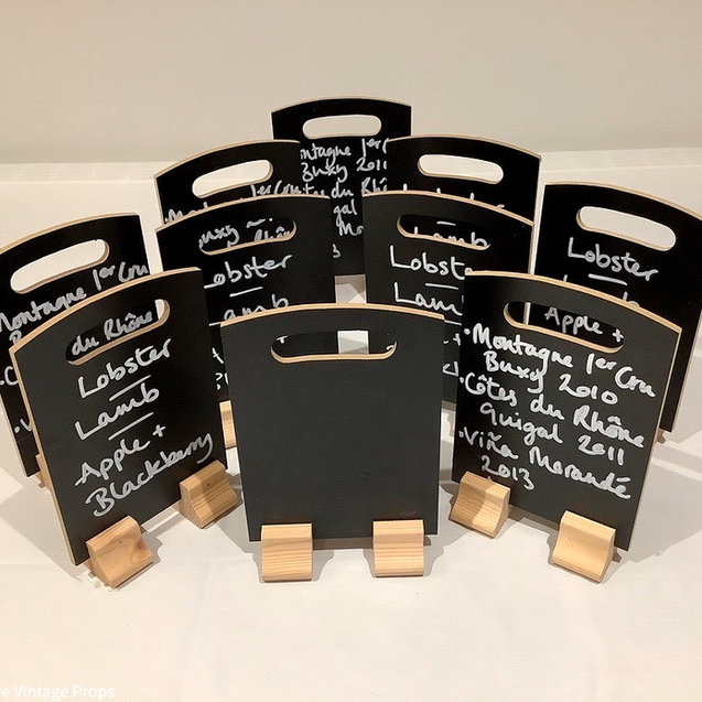 Table Top Freestanding Chalkboards for Menus or Table Names for Weddings