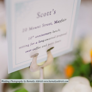 Wedding Table Stationery Name Card in Ivory and Eau de Nil. Photography by Barnaby Aldrick