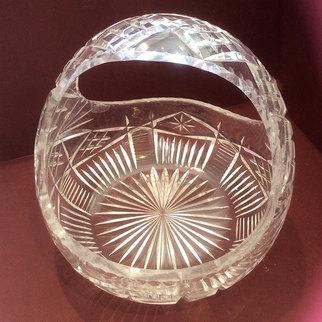 Cut Glass Vintage Sweet Bonbon Basket