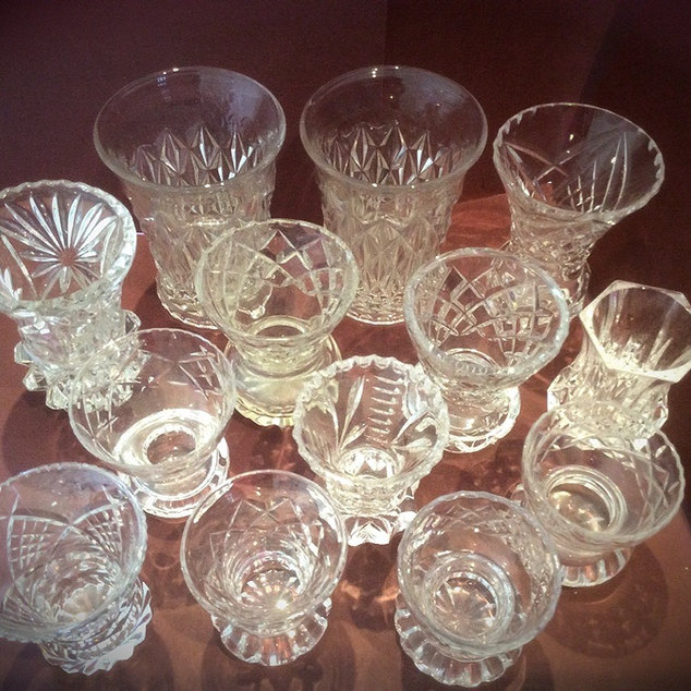 Cut Glass and Crystal Mini Bud Vases for Wedding Flowers Venue Styling