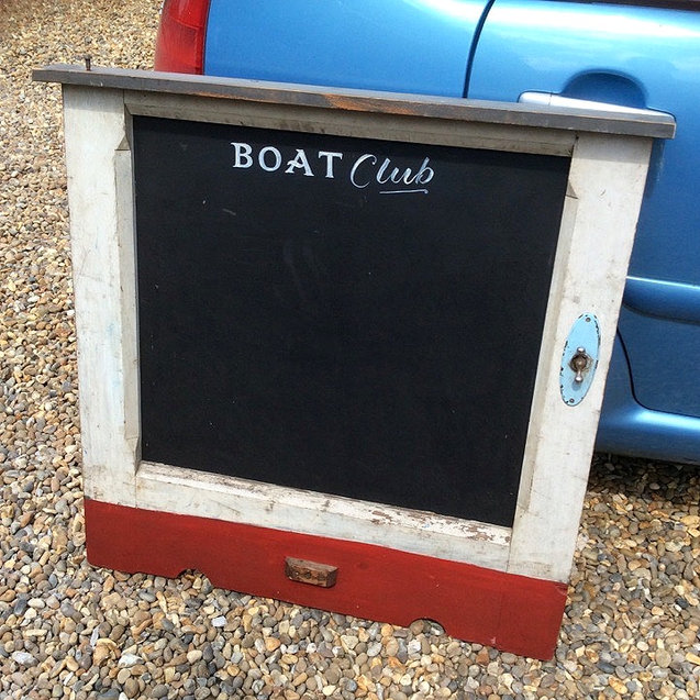 Large Reclaim Boat Club Chalkboard for Wedding or Events Signage