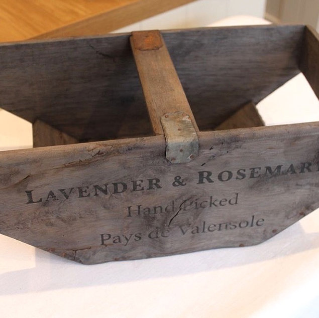 Rustic Lavender and Rosemary Trug Wedding Hire