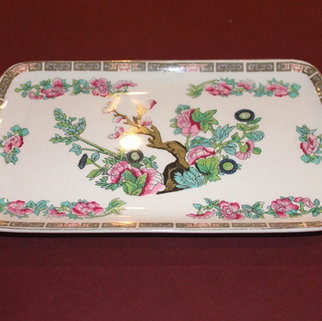 Vintage Indian Tree Pattern China Sandwich Platter