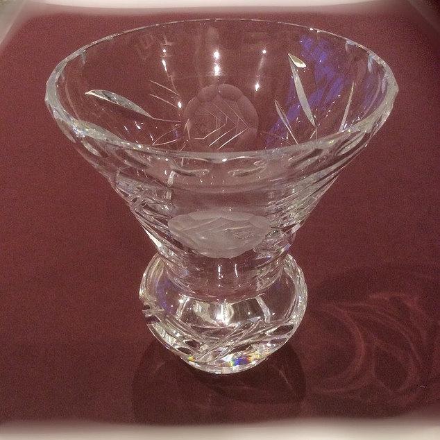 Beautiful Cut Glass Vase