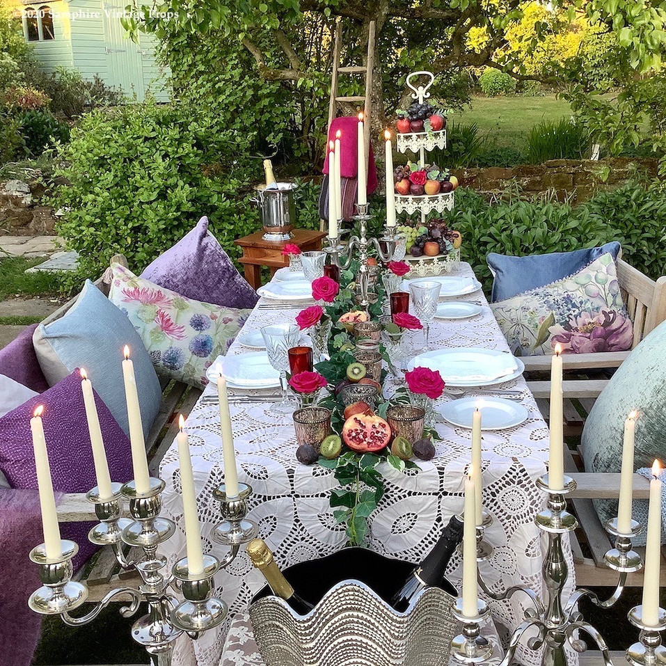 Celebration Outdoor Dining Tablescape