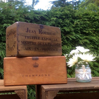 Vintage Style Repro Wooden Display Box