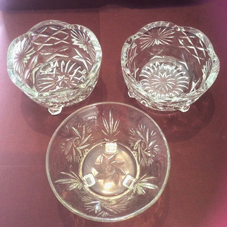 Vintage Cut Glass Bowls for Event Sweet Trolley