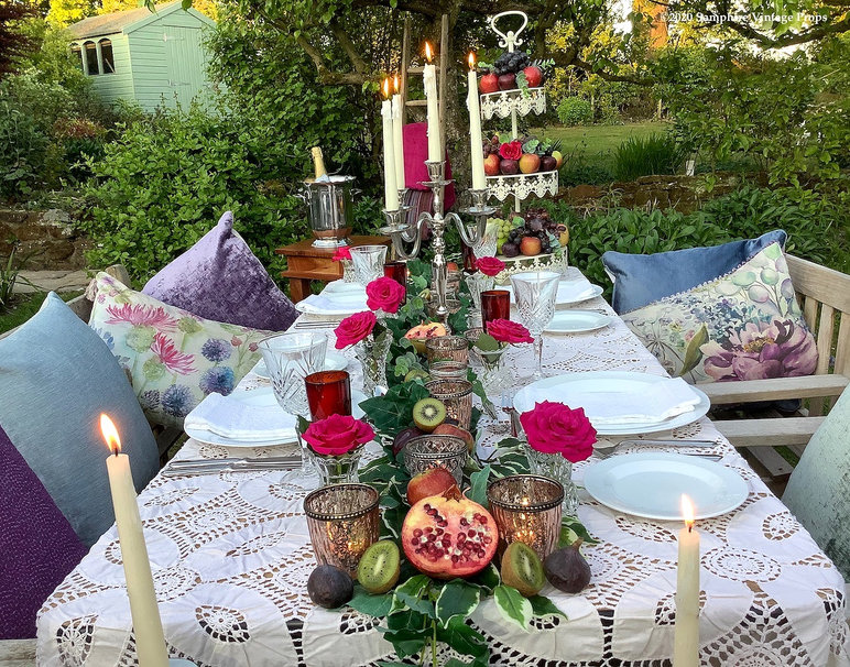 Outdoor Celebration Dining Candles and Candleabras