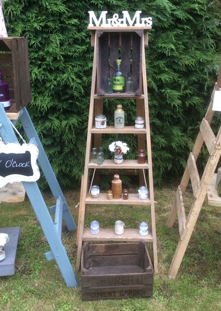Vintage Wooden Ladders With Small Event Props Venue Styling