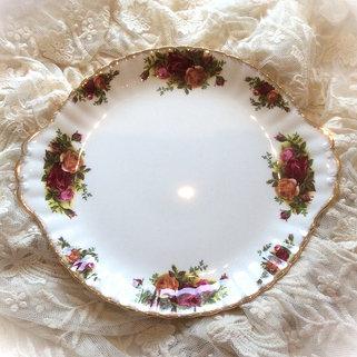 Royal Albert County Rose Cake Plate