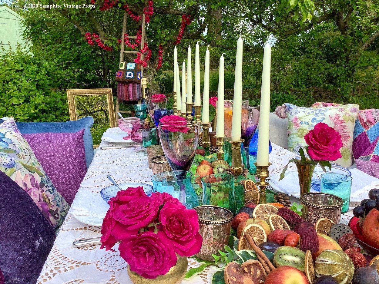 Boho Tablescape Outdoor Dining Style