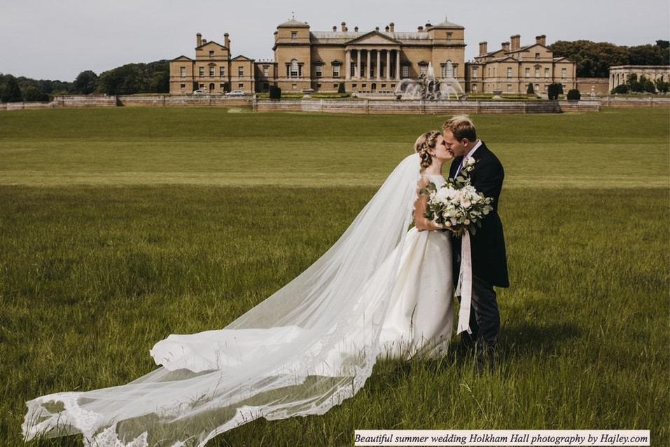 Stunning Summer Wedding Holkham Hall Photography by Hajley.com